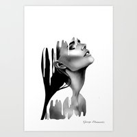 Paint Rain Art Print