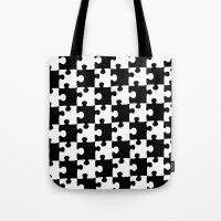 Checkerboard Puzzle Pieces Tote Bag