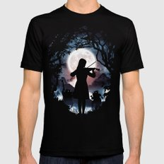Moondance  Mens Fitted Tee SMALL Black