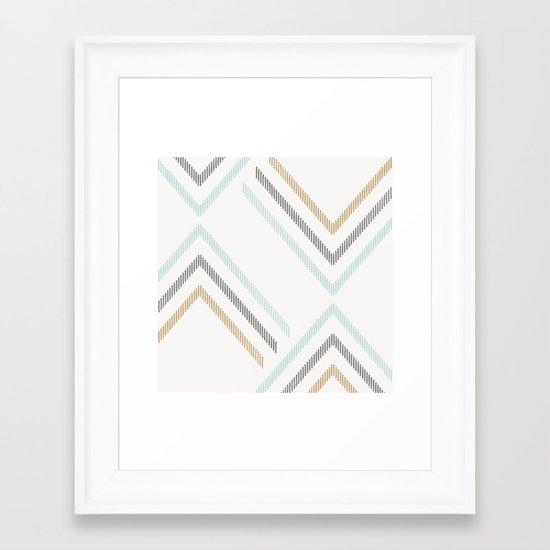 Zig & Zag - in Mint Chocolate Chip Framed Art Print