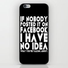 Facebook Problems iPhone & iPod Skin