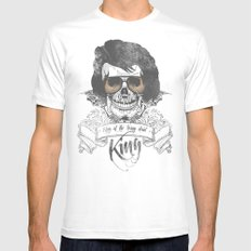 Elvis Presley | The King of the Living Dead White Mens Fitted Tee SMALL