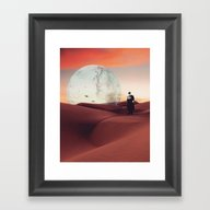 Red Planet Framed Art Print