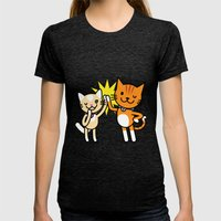 Ginger & Lemon Womens Fitted Tee Tri-Black SMALL
