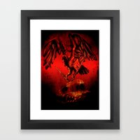 SWITCHBLADE VULTURE Framed Art Print