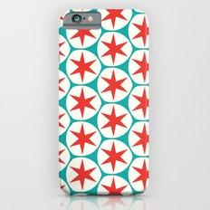 Retro Red Stars Pattern Slim Case iPhone 6s