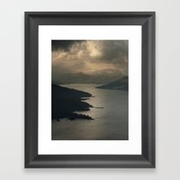 The way home is west Framed Art Print