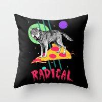 So Radical Throw Pillow