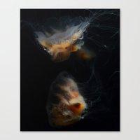 Cream Tentacles Canvas Print