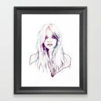 Miranda Kerr Framed Art Print