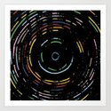 Rainbow Record on Black Closeup Art Print