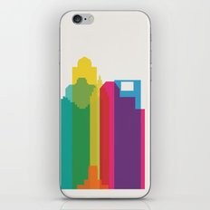 Shapes of Houston. Accurate to scale iPhone & iPod Skin