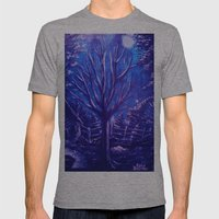Lonely Tree Mens Fitted Tee Athletic Grey SMALL