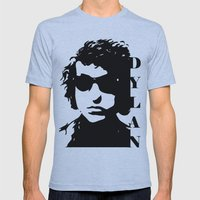 Bob Dylan Mens Fitted Tee Athletic Blue SMALL