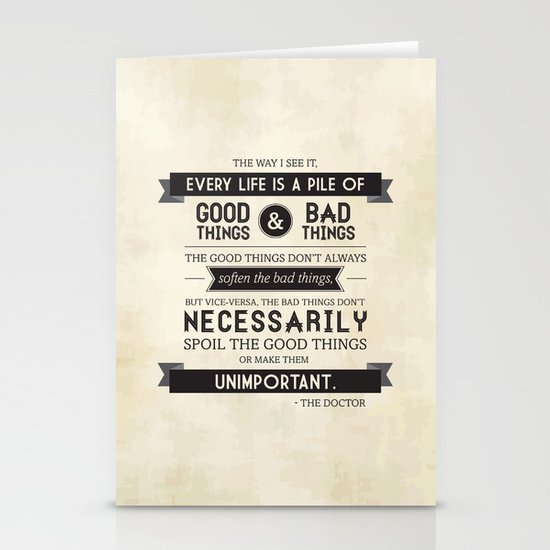 Good Things & Bad Things Stationery Card