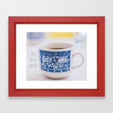 You me & Coffee Framed Art Print