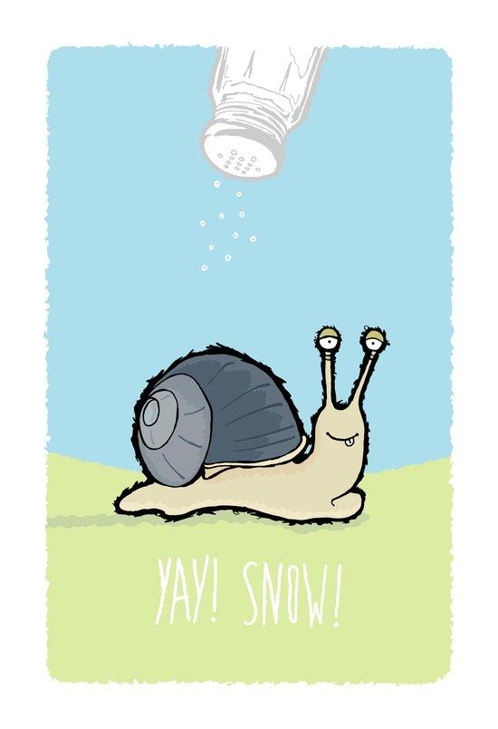 Yay! Snow! Art Print
