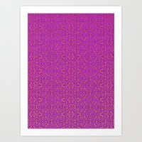 Purple Tribal Pattern Art Print
