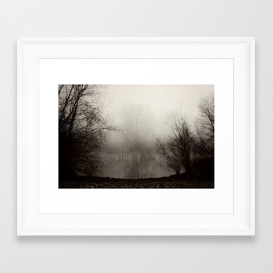 dare to dream Framed Art Print