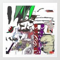 Doodle Collage Art Print
