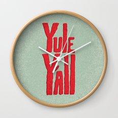 Yule Y'all Wall Clock