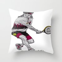 Tennis Agassi Throw Pillow