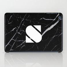 Black Marble - Alphabet S iPad Case