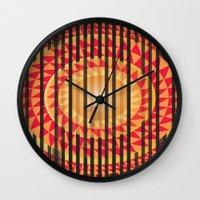 Hidden Sun Wall Clock