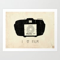 I Love Film Art Print
