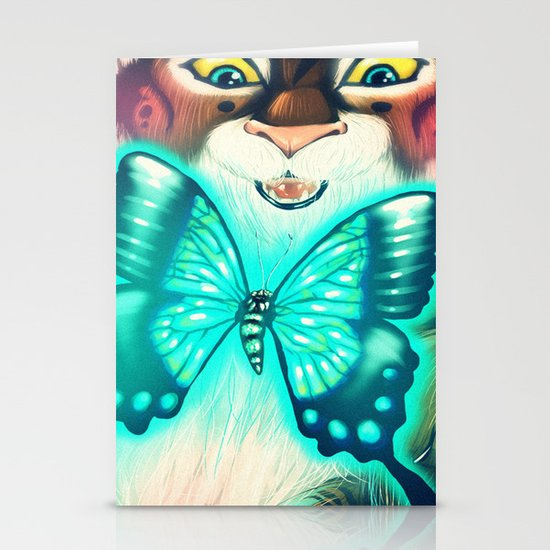 Blue Tiger Stationery Card