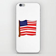 american flag III iPhone & iPod Skin