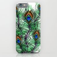 iPhone & iPod Case featuring Peacock Feather by Vicky Ink.