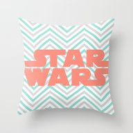 Turquoise And Coral SW A… Throw Pillow