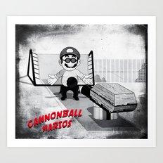 Cannonball Marios Art Print