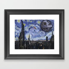 A Starry Wars Night Framed Art Print