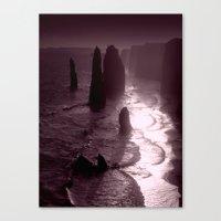 Rock formations as Dusk settles Canvas Print