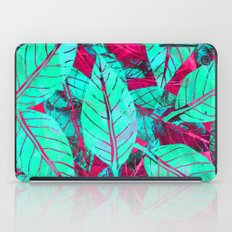 Turquoise and Pink Leaves iPad Case