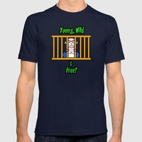 Young, Wild & Free? Mens Fitted Tee Navy SMALL