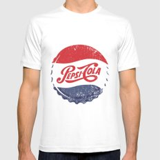 Vintage Pepsi Mens Fitted Tee White SMALL