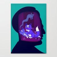 Schrodinger's Cat Canvas Print