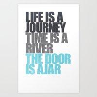 The Door is Ajar Art Print