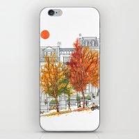 Autumn Cityscape iPhone & iPod Skin