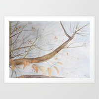 Watercolor Under The Tre… Art Print