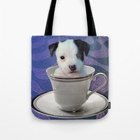Pup in a Cup Tote Bag