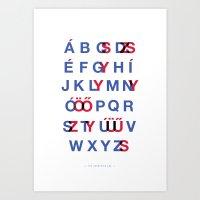 The Hungarian ABC Art Print