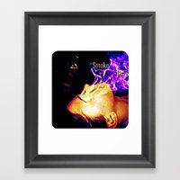 Smoke Study Framed Art Print