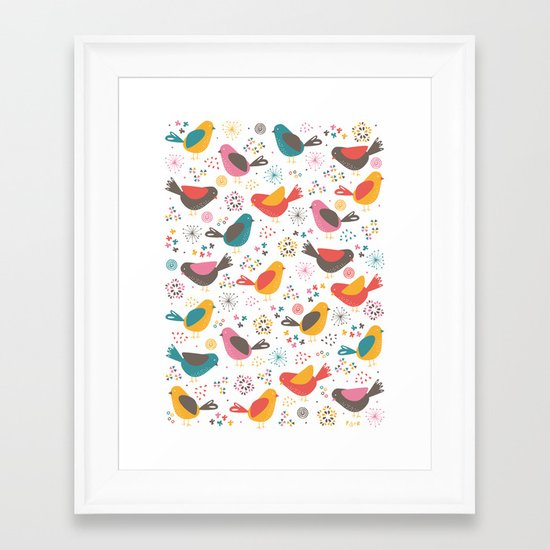 Quirky Chicks Framed Art Print