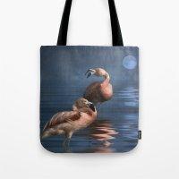 Flamingo Moon Tote Bag