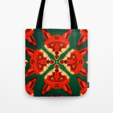 Fox Cross geometric pattern Tote Bag