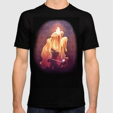 The Candlelight Mens Fitted Tee Black SMALL